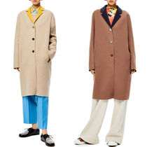 LW054 ANAGRAM BI-COLOUR COAT IN WOOL AND CASHMERE