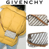 GIVENCHY BOND チェーンプリント キャンバス クロスボディバッグ