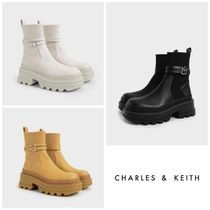 ★CHARLES&KEITH★Slip-On Platform Ankle Boots ブーツ/送料込
