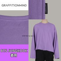 GRAFFITIONMIND(グラフィティオンマインド) Tシャツ・カットソー 【GRAFFITIONMIND】Incision Long Sleeve Tee▲BTS JUNGKOOK着用