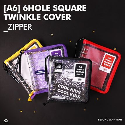【SECOND MANSION】[A6] 6hole twinkle cover_zipper type