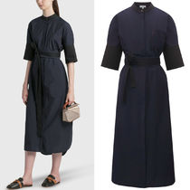 LW059 BELTED MIDI SHIRT DRESS IN COTTON