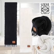 LOEWE【送料込】マフラー*Logo Patch Scarf in wool and mohair