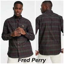 Fred Perry トーン タータン シャツ