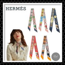 【HERMES】シルクスカーフ ツイリー ≪Twilly Jumping≫