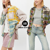 Urban Outfitters(アーバンアウトフィッターズ) ワンピース 【Urban Outfitters】BDG Ted パッチワーク ネルシャツ