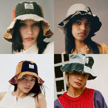 Urban Outfitters(アーバンアウトフィッターズ) ハット 【Urban Outfitters】BDG パッチワーク コーデュロイバケハ
