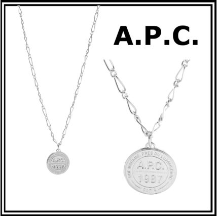 【A.P.C./アーペーセー スタンプロゴ コイン チェーンネックレス