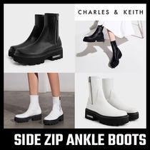 【Charles&Keith】 SIDE ZIP ANKLE BOOTS アンクル ブーツ