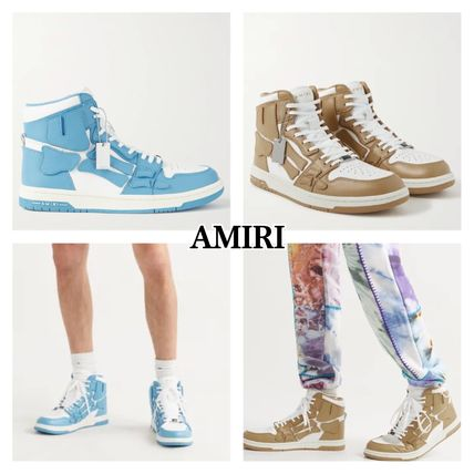 【AMIRI】Leather High-Top Sneakers スニーカー