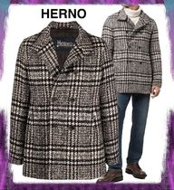 【HERNO】VINTAGE CHESS PEACOAT
