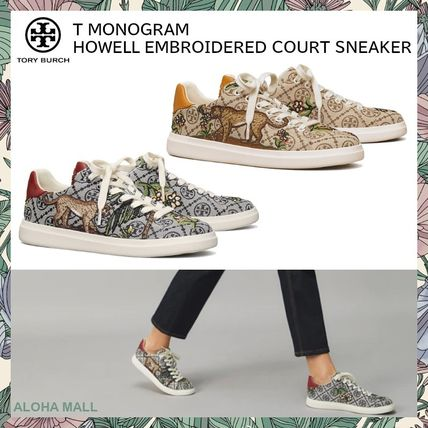 【Tory Burch】T MONOGRAM HOWELL EMBROIDERED COURT SNEAKER♪