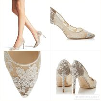 SALE!【JIMMY CHOO】ROMY 85 FLORAL LACE