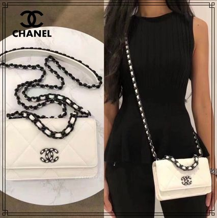 《21AW★》CHANEL 19 チェーンウォレット WOC