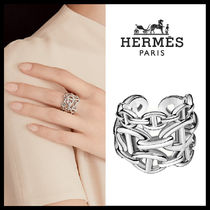 HERMES☆Chaine d'ancre Enchainee ring, large model☆送料込