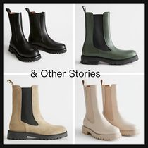 【&Other Stories】Chunky Sole Leather Chelsea ブーツ 革 4色