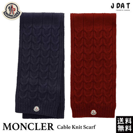 【MONCLER】大人もOK! Cable Knit Scarf ウール マフラー♪