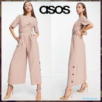 【ASOS】tailored wrap waist wide leg jumpsuit 送料/関税込み