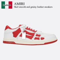 Amiri Skel smooth and grainy leather sneakers