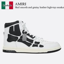 Amiri Skel smooth and grainy leather high-top sneakers