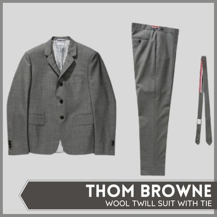 [THOM BROWNE] WOOL TWILL SUIT WITH TIE (送料関税込み)