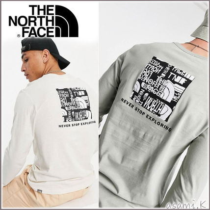 *THE NORTH FACE* ロゴ長袖Tシャツ 2色【送料・関税込】