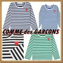 COMME des GARCONS(コムデギャルソン) キッズ用トップス ☆COMME des GARCONS☆ PLAY KIDS ボーダーTシャツ【送料込】