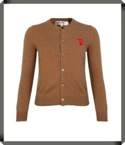 【COMME DES GARCONS PLAY】N075 Double Heart カーディガン