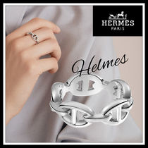 HERMES☆Chaine D'Ancre Enchainee Ring シルバーリング☆送料込