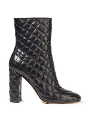 Quilted Leather Ankle Bootsキルティングレザー アンクルブーツ