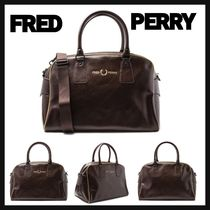 FRED PERRY(フレッドペリー) ボストンバッグ 【FRED PERRY】UK発 2WAY アーチグリップ ロゴ ボストン バッグ