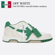 Off White Out Of Office smooth leather sneakers