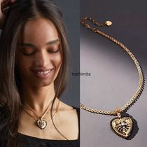 Anthropologie(アンソロポロジー) ネックレス・ペンダント 関税込み☆Anthropologie Embellished Heart Pendant Necklace