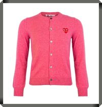 【COMME DES GARCONS PLAY】N075 Double Heart Cardigan
