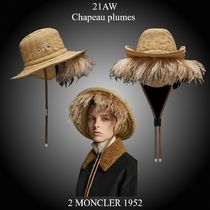 21AW★新作★2 Moncler 1952★Chapeau plumes フェザーハット