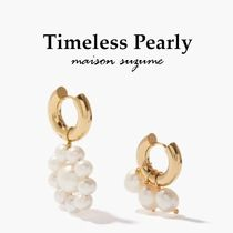【Timeless Pearly】パール&ゴールド☆フープ ピアス