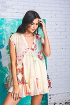 Free People ★ Mended With Scarves Mini Dress