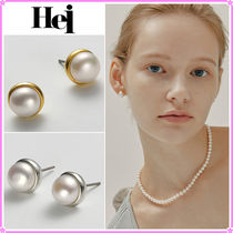 【Hei】button pearl earring〜ボタンパールピアス★2021秋コレ