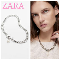 ZARA【NEW】NATURAL-COLOURED PEARL BEAD NECKLACE