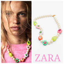 ZARA【NEW】FAUX PEARL NECKLACE WITH DETAILS