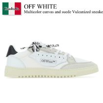 Off White Multicolor canvas and suede Vulcanized sneakers