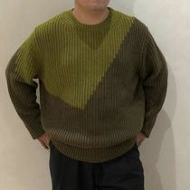 """COS(コス) ニット・セーター """"COS MEN"""" TWO-TONE KNITTED JUMPER GREEN"""