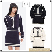 ROMANTIC CROWNのNECK LINE KNIT ONEPIECE 全2色