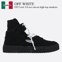 Off White Off Court 3.0 eco canvas high-top sneakers