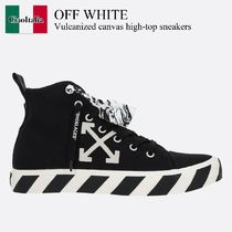 Off White Vulcanized canvas high-top sneakers