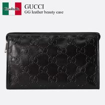 Gucci GG leather beauty case