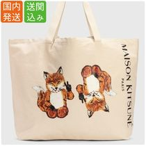 MAISON KITSUNE★ALL RIGHT FOX ロゴ ビッグトートバッグ