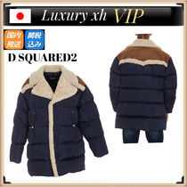 Dsquared2 FAUX SHEARLING LINED PADDED ファー コート ムートン