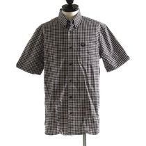 FRED PERRY::Logo Gingham Shirt:M[RESALE]