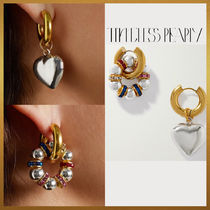 【Timeless Pearly】Silver Heart & Crystal ピアス フランス製